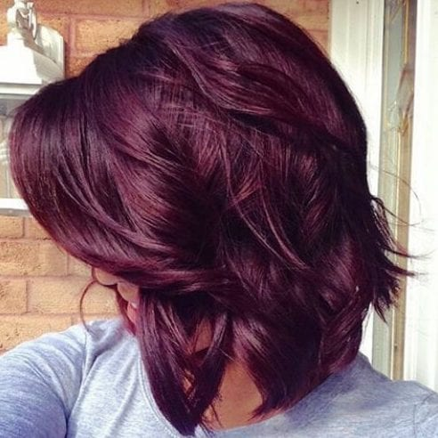 burgundy hair plum