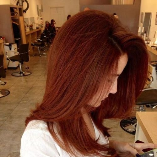 chestnut burgundy hair