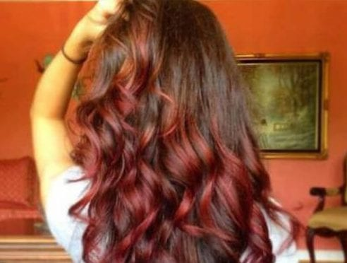 light brown burgundy hair