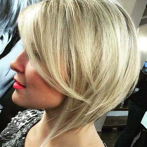 Blonde Angled Bob Haircuts