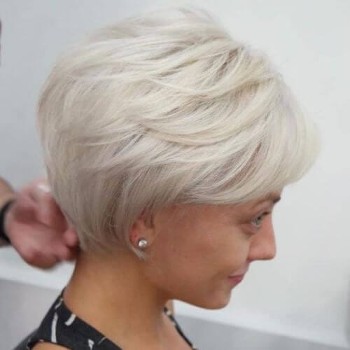 ash blonde pixie cut