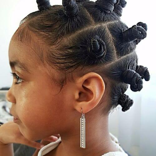 bantu knots for kids