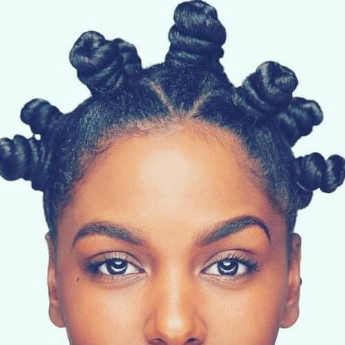 beautiful bantu knots