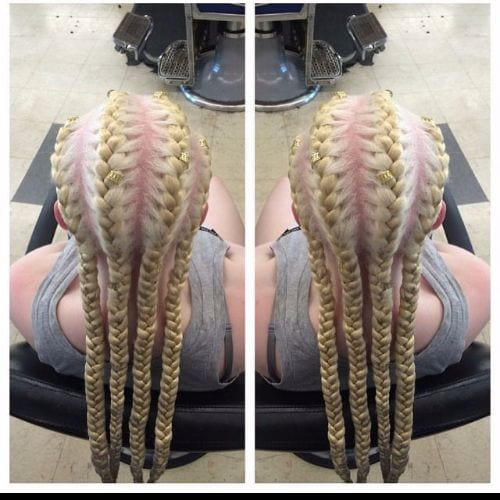 blonde goddess braids