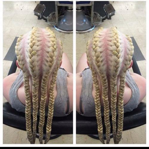 blonde goddess braids
