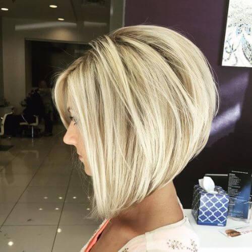 blonde inverted bob haircut