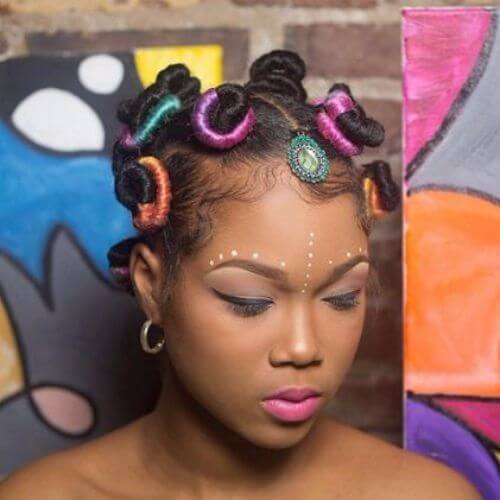 colored bantu knots