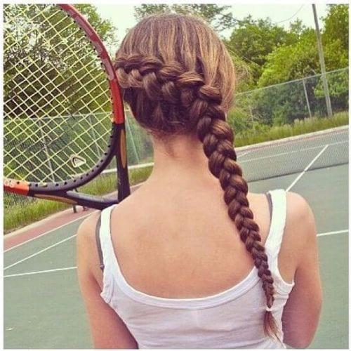 dirty blonde goddess braids