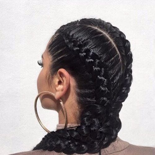 elaborate goddess braid