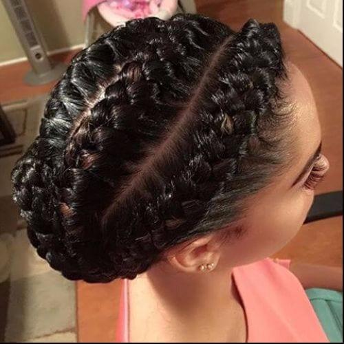 goddess braid bun
