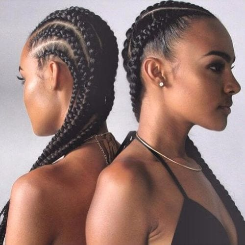 goddess braids two models