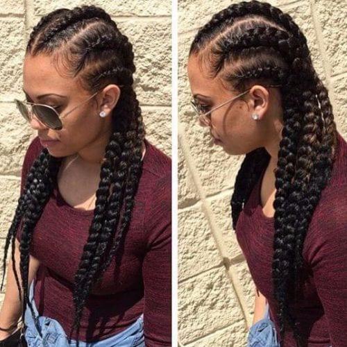 goddess braids variation