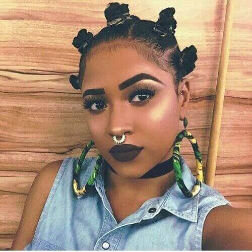 goddess thin hair bantu knots