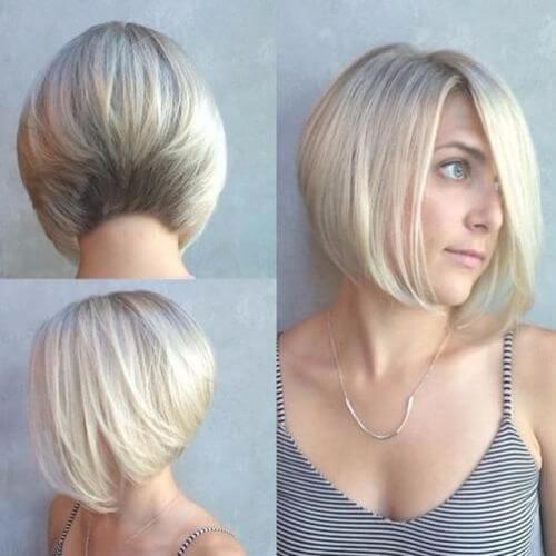 graduated blonde bob haircuts