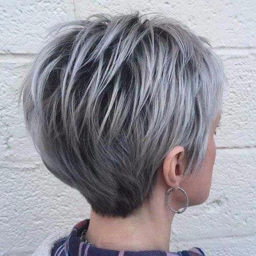 gray pixie cut