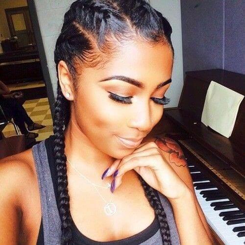 long black goddess braids