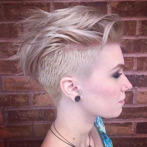 mohawk style pixie cut