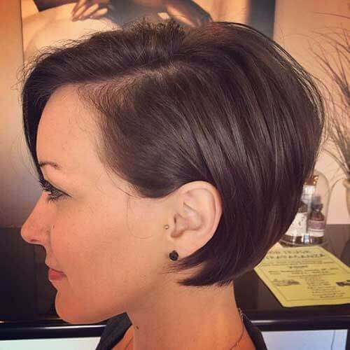 pixie cut chocolate hair