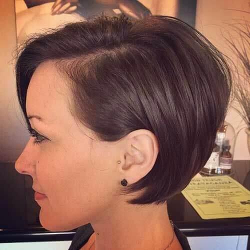 pixie cut chocolate hair