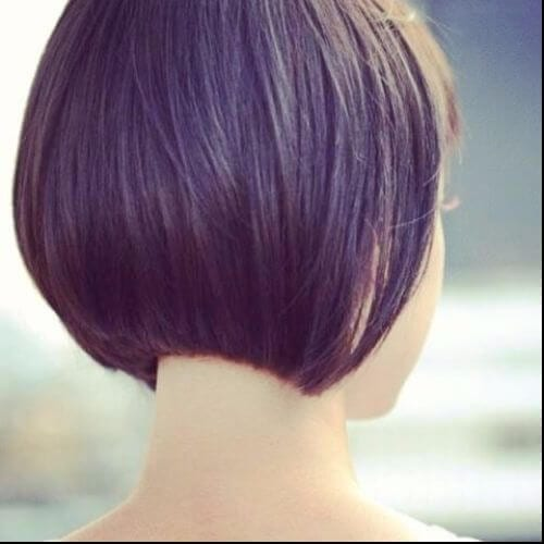 precise purple bob haircut