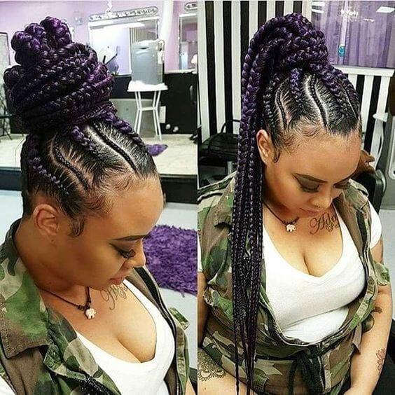purple goddess braids