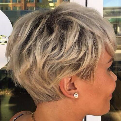 short shag blunt pixie cut