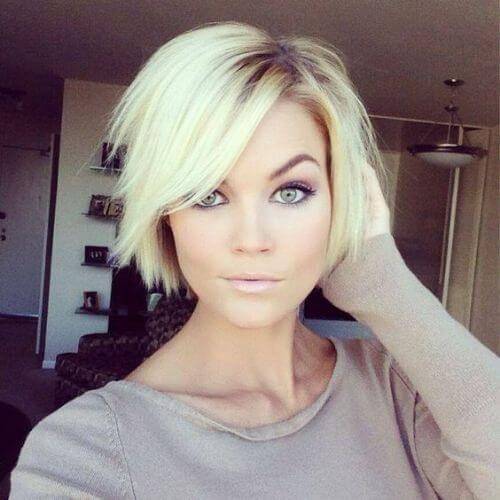 long blonde pixie cut