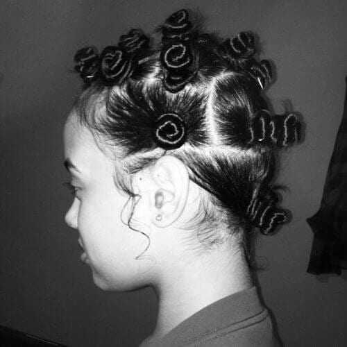spiral-like bantu knots