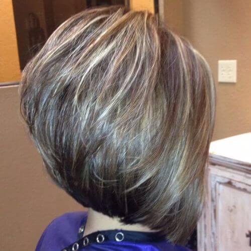 stacked layered bob haircut