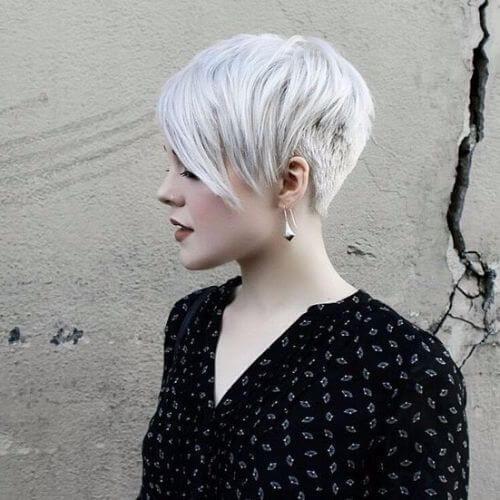 white pixie cut