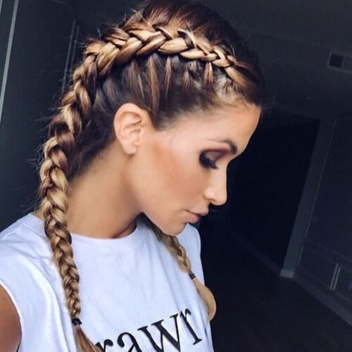 young girl goddess braids and dutch braids
