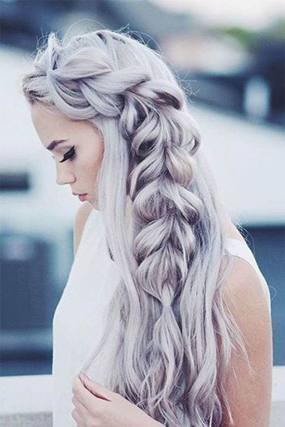 ash blonde grey hair