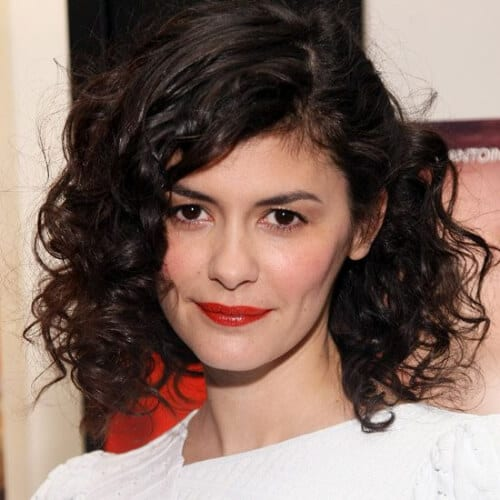 audrey tatou hairstyles for curly hair