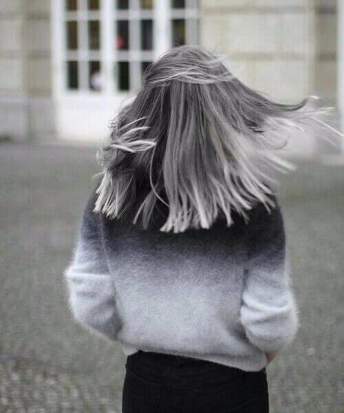 chopped bob grey hair
