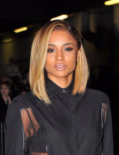 ciara long bob short hairstyles for black women
