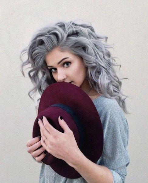 curly grey hair