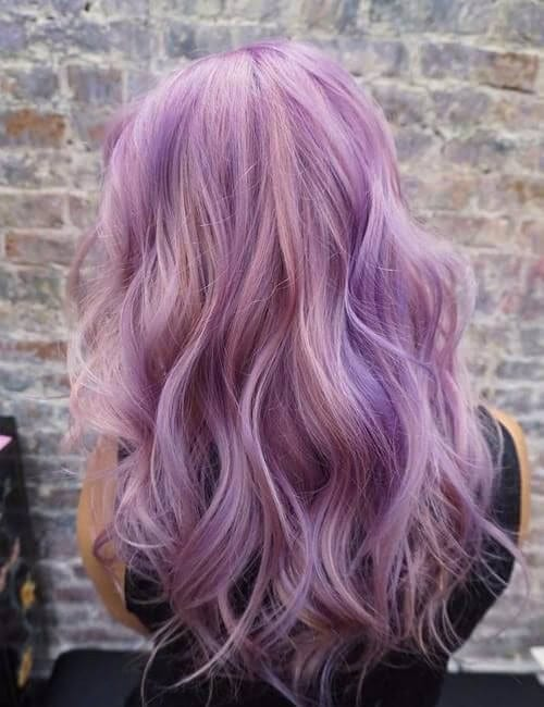 dual shaded purple hair
