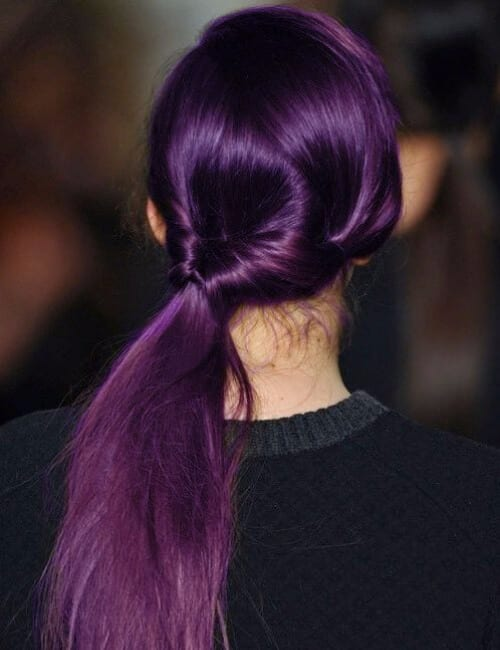eggplant shade of purple hair