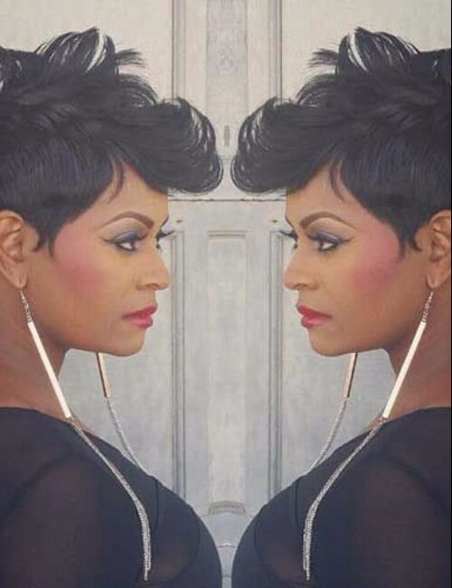 elegant short hairstyles for black women