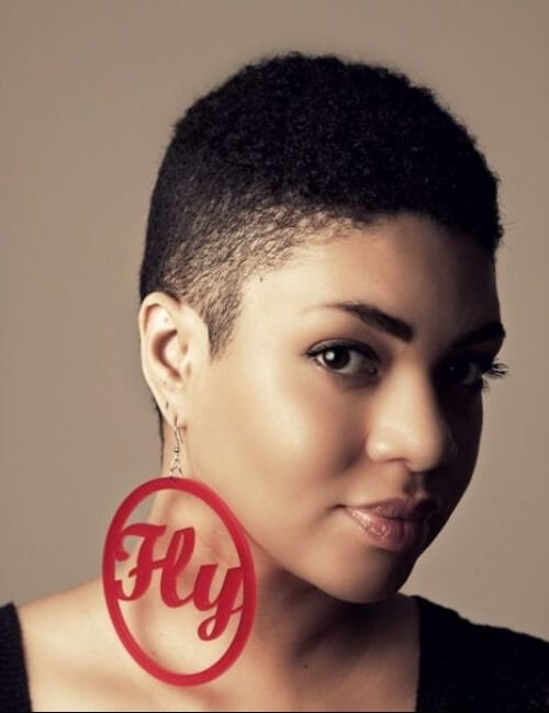 fade short hairstyles for black women