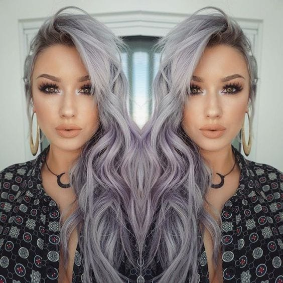 grey hair beach waves