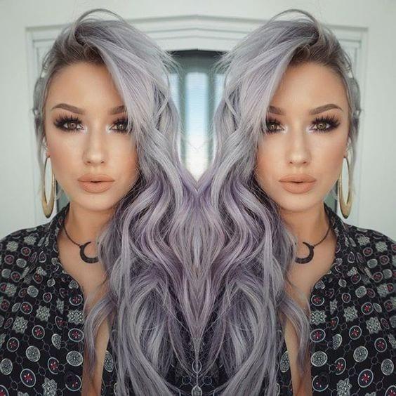 grey hair beach waves