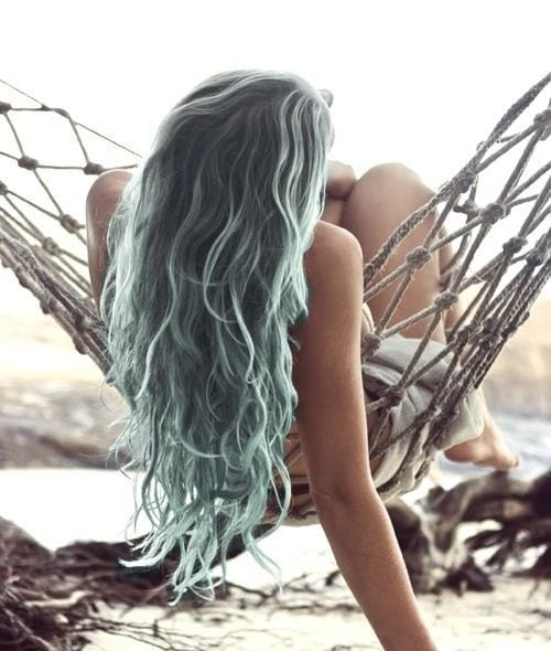 grey hair mermaid
