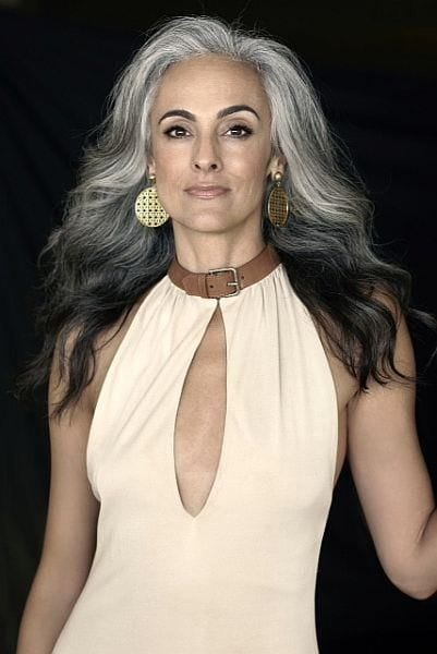 grey hair older women