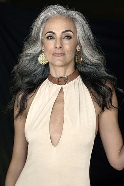 grey hair older women