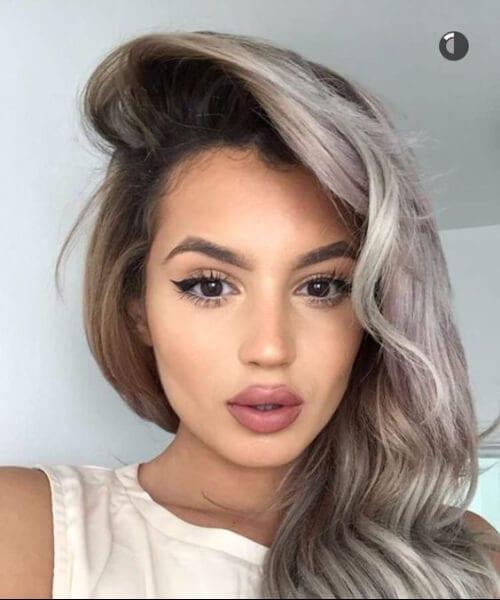 grey hair ombre