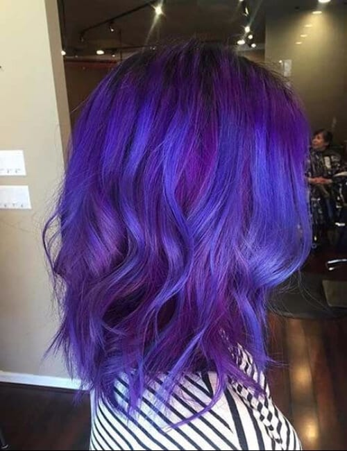 ink shade of purple hair