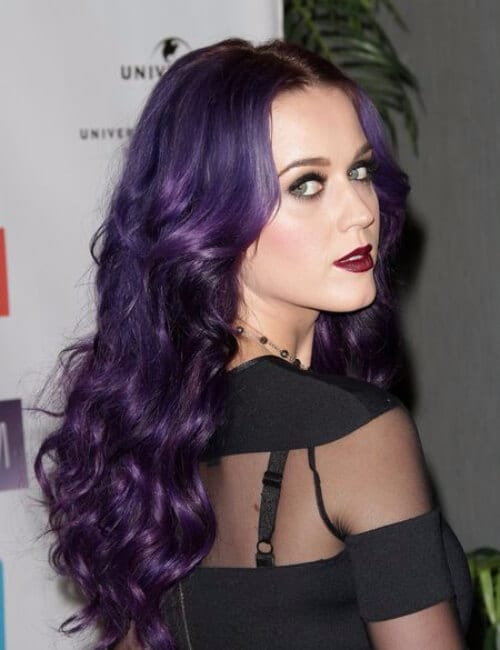 katy perry purple hair