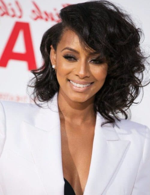 keri hilson asymmetrical bob short hairstyles for black women