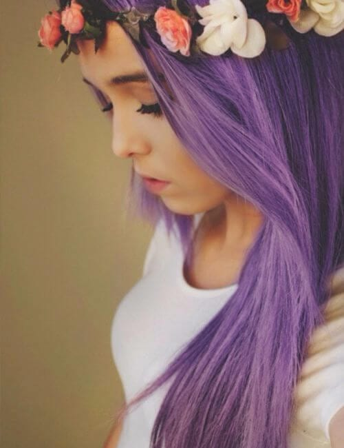 lilac festival purple hair